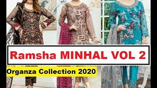Ramsha MINHAL VOL 2 Organza Collection 2020 | Designer Wedding & Party Wear Dresses