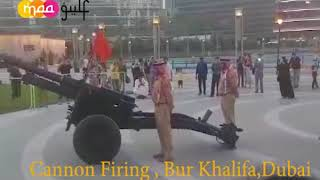 Cannon Firing at Burj Khalifa