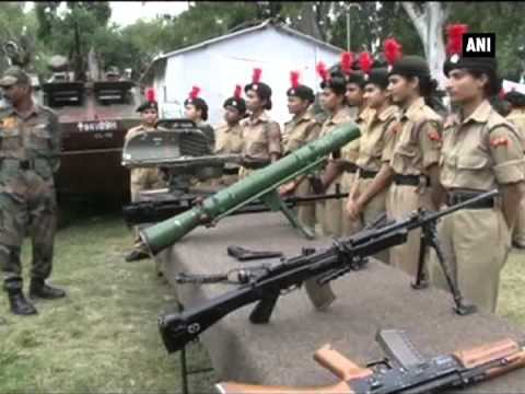 Girl cadets get military training in Jammu