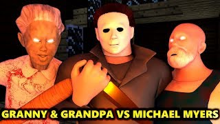 GRANNY 2 & GRANDPA vs MICHAEL MYERS HALLOWEEN CHALLENGE! (official) Minecraft Horror Game Animation