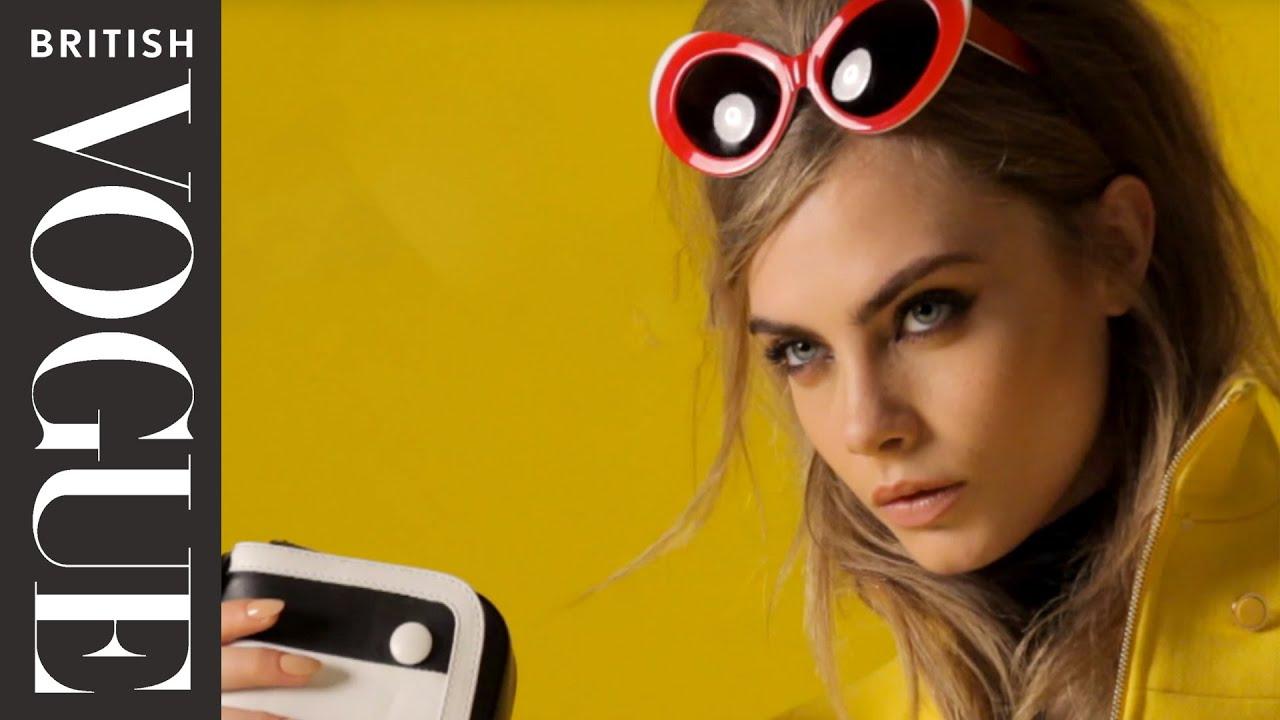 Cara Delevingne Retro Look | Behind The Scenes | British Vogue