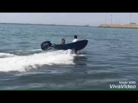 Boat testing at the Chabahar Maritime University beach 9