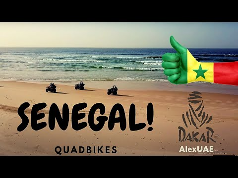 Quad Bikes at the beaches of DAKAR and The PINK Lake. Travel to Senegal