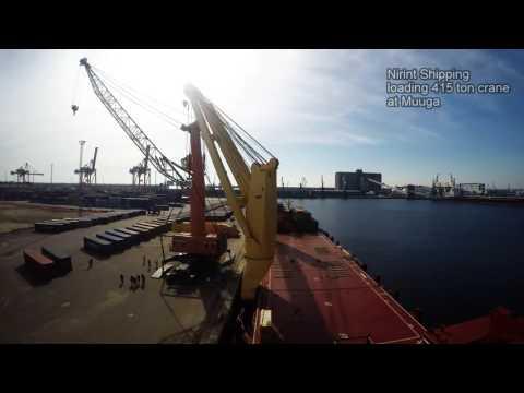 Nirint Shipping loading crane at Muuga