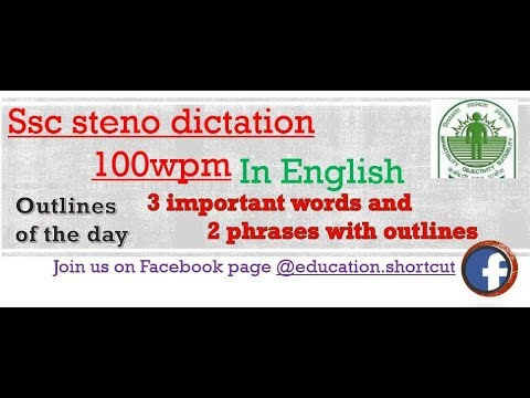 Download English Shorthand Dictation 100 Wpm By Shortcuts Channel