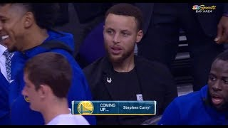 Stephen Curry Was Not Impressed With Players Hit Shots From The LOGO!