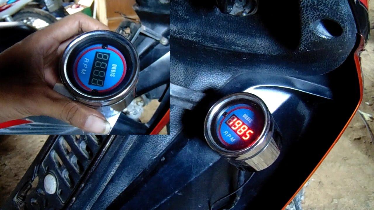 cara memasang rpm takometer digital pada kendaraan bermotor youtube
