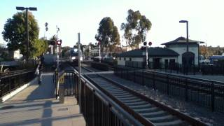 NCTD Coaster & Sprinter Trains At Oceanside, CA.