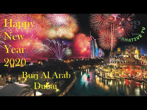 Happy New Year 2020 Dubai Burj Al Arab Firework | Burj Khalifa | last night of 2019 in Dubai