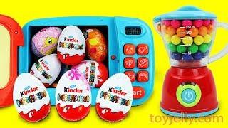 KINDER joy Chocolate Surprise Egg Magical Microwave & Blender Toys for Children Baby Finger Song