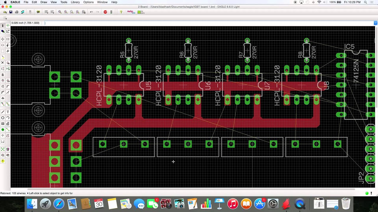Learning to Use Eagle CAD - IGBT H-Bridge, Part III: Power Planes ...