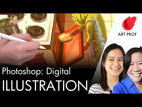 How to Create an Illustration with Digital Painting Techniques in Photoshop