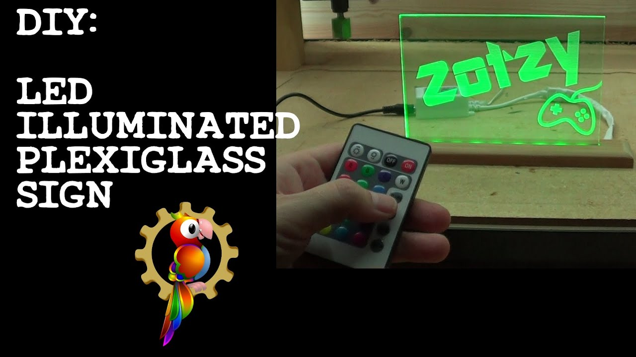 how to light up plexiglass with leds