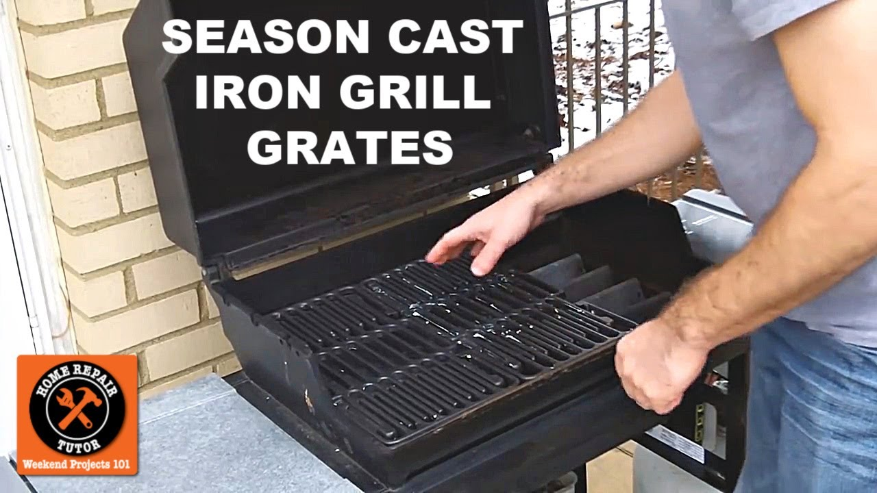 How To Season Cast Iron Grill Grates Youtube