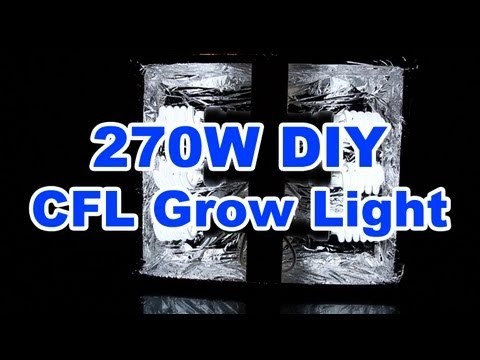 270w DIY CFL Grow Light - $52 - How to build it.