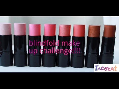 Becoming beautiful!  ~ The  Blindfolded Makeup Challenge