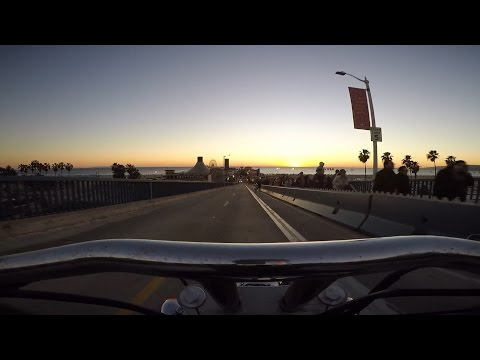 Motorcycle ride from Santa Monica to Malibu and back.