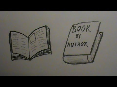 How to Draw a Book: Open and Closed - YouTube