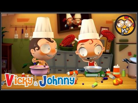 Vicky & Johnny | Episode 41 | HOT CAKE | Full Episode for Kids | 2 MIN