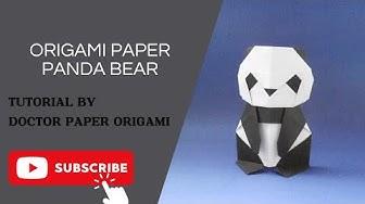 Origami Paper Panda Bear (Oso Panda en papel) Tutorial - Makoto Yamaguchi