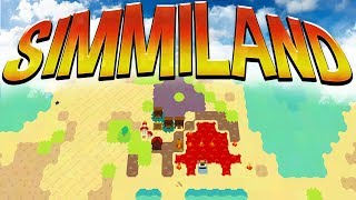 Being God In Simmiland - The Dumbest Human Civilization - Volcano Power! - Simmiland Gameplay