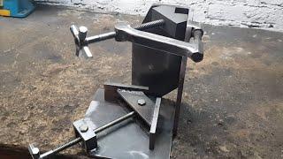 Homemade 3 axis angle welding clamp