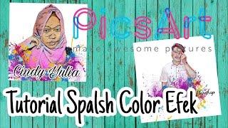 Tutorial Cara Edit Photo SPLASH COLOR ala AWKARIN menggunakan Picsart  Android