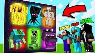 Minecraft NOOB vs PRO vs HACKER : MONSTER MUTANT PORTALS in Minecraft / Animation