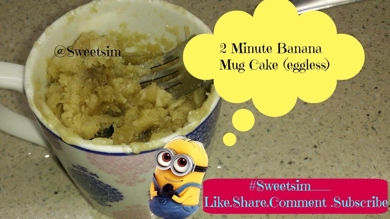 Banana Mug Cake Eggless