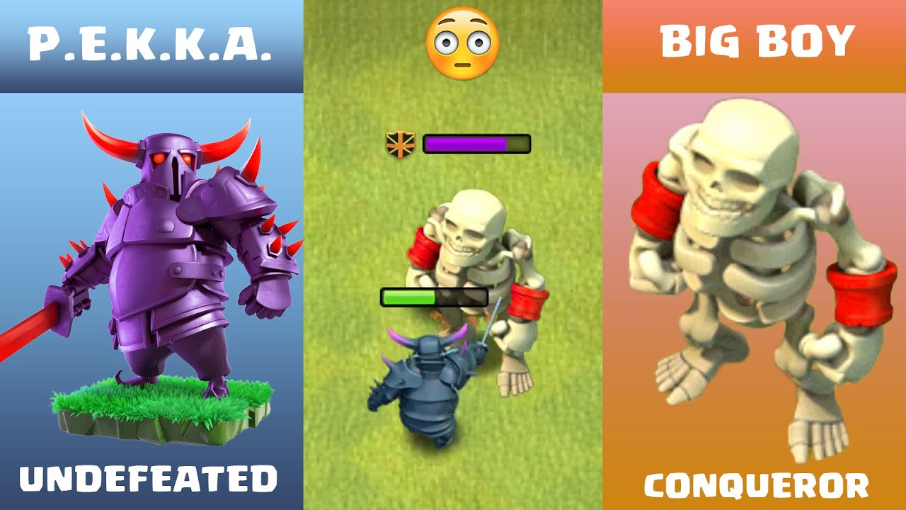 Every Level PEKKA vs BIG BOY Clash of Clans | Pekka vs BIG BOY COC Epic Battle