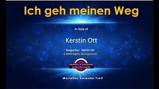 Kerstin Ott - ich geh meinen Weg (Karaoke Version)