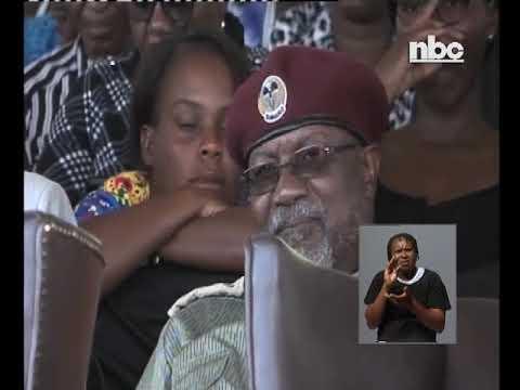 President Hage speaks at Ndakolo's memorial -nbc