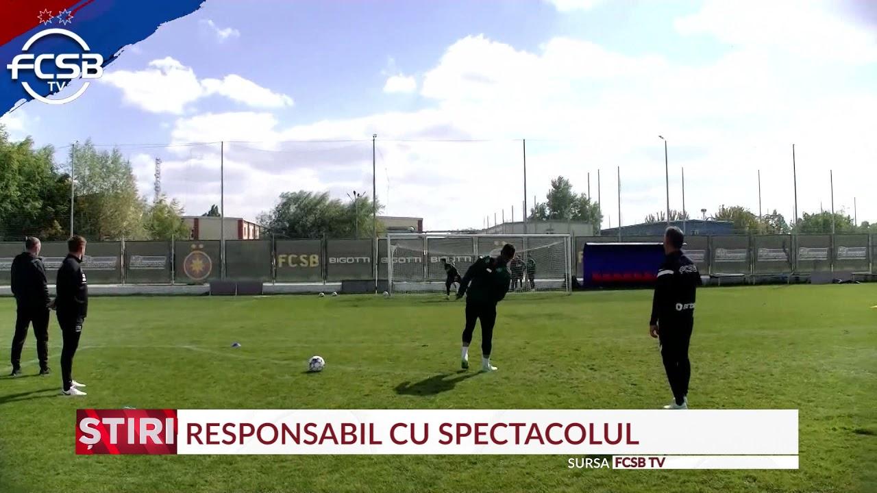 Budescu se distrează la FCSB. A dat gol din afara terenului