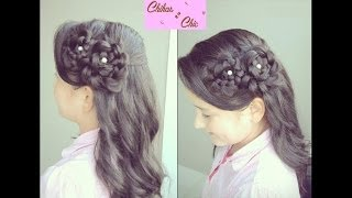 Romantic Hairstyle: Double Side Flowers | Chikas Chic