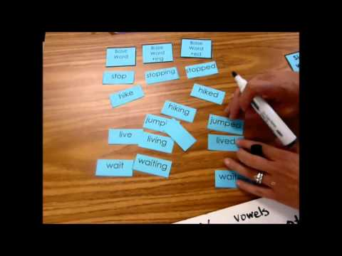 October 12 Sort 69 Base Word and endings ed, ing