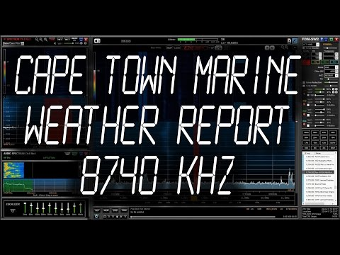 Cape Town Marine Meteorological Broadcast - 8740 kHz