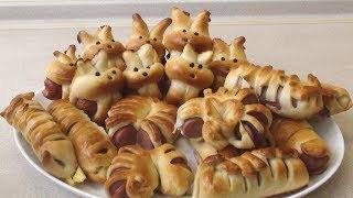 Зайцы для зайцев! Сосиска в тесте.