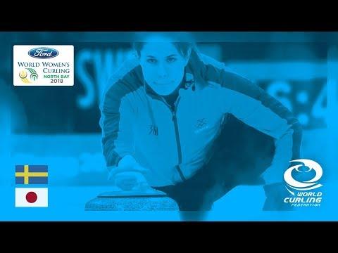 Sweden v Japan - Round-robin - Ford World Women's Curling Championships 2018