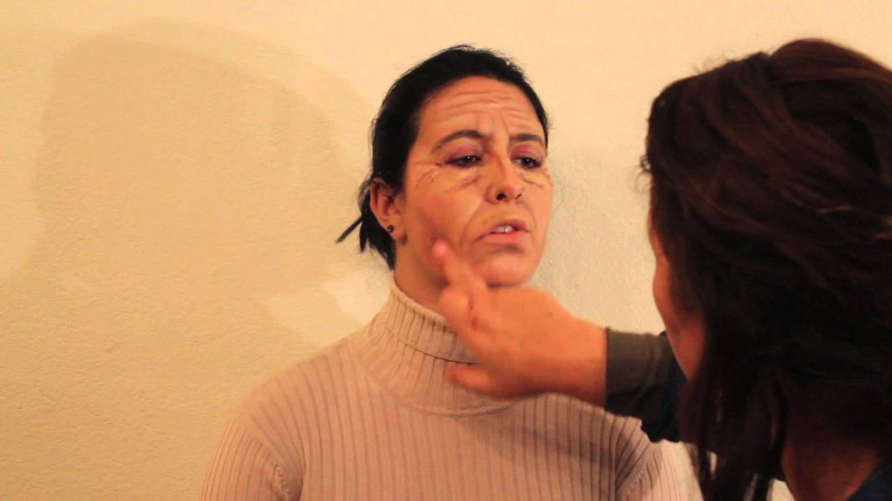 Make up to granny / face painting Wrinkle of Life - YouTube