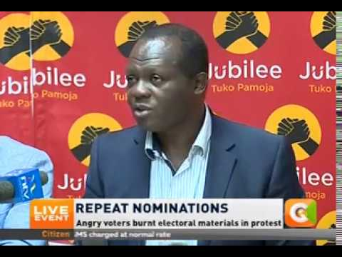 Jubilee to conduct fresh party primaries on Monday and Tuesday
