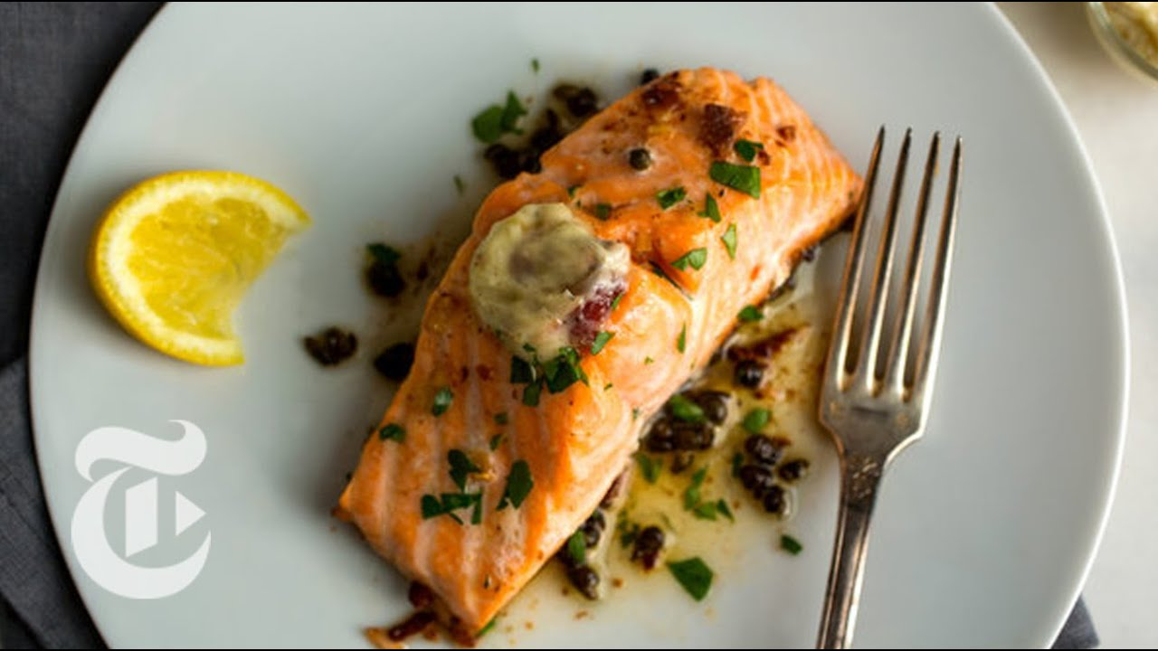 salmon butter anchovy recipes sauce garlic recipe food cooking anchovies clark capers nytimes nyt melissa times plating unsalted fish lemon