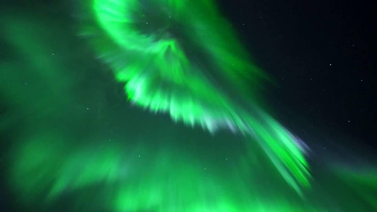 Real Time Aurora Borealis In Troms 248 Youtube
