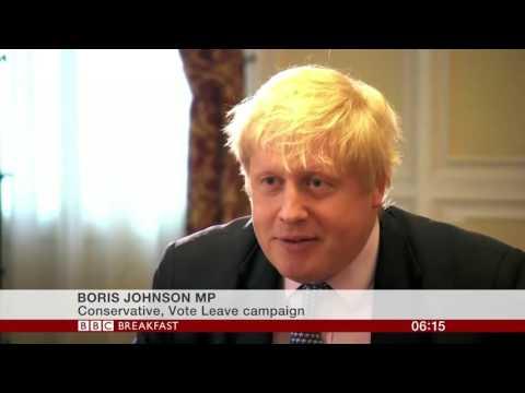 Boris Johnson on Brexit campaign and EU corruption Apr 2016