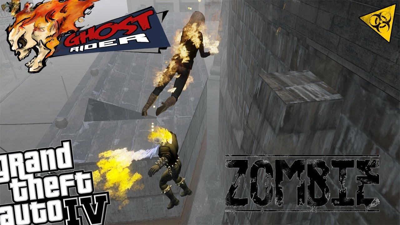 GTA IV Zombie Apocalypse Mod - Ghost Rider vs Zombie Horde