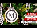 Monogrammed Embroidery Hoop Christmas Ornament Tutorial