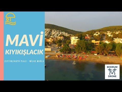 Denize sıfır Mavi Kıyıkışlacık Cafe ve Zeytinlikuyu Plajı - Iasos Milas Muğla Dr