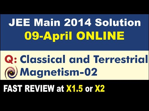 JEE Main Solution 2014 Online | Classical and Terrestrial Magnetism 02