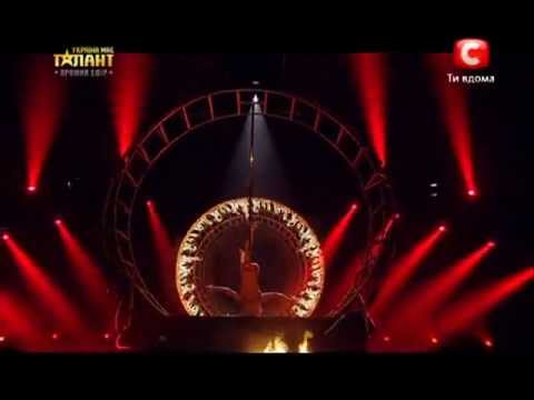 Anastasia Sokolova - pole dance 2 - ukraine's got talent