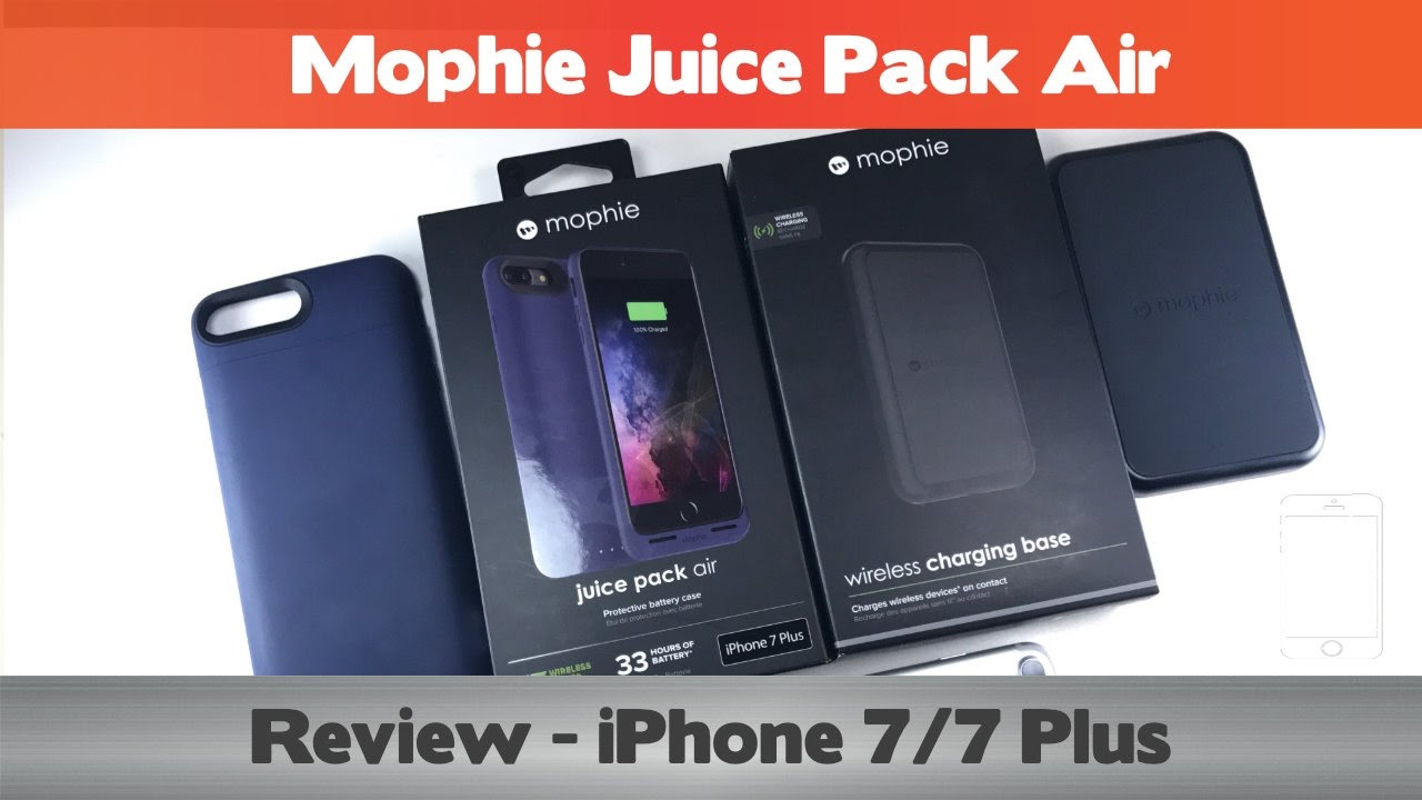 innovative design 104ae eb1ec Wireless charging for the iPhone 7? Mophie Juice Pack Air Review - iPhone 7  Battery cases