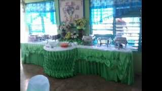 apache catering set up and buffet skirting